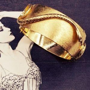Vintage RARE Whiting & Davis Snake Bracelet